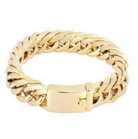 Hohe Qualitätsmode 18K echte Vergoldung Armband Persönlichkeit Armbänder Galvanische Legierung Doppelschnalle Trend Atmosphärische Armband