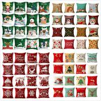 176 تصميمات عيد الميلاد وسادة حالة سانتا كلوز شجرة عيد الميلاد ثلج وسادة القضية الملونة وسادة غطاء المنزل أريكة سيارة ديكور وسادة