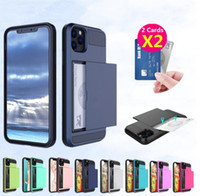 Case Slide Armure Card pour iPhone 11 12 Pro Max SE 2 2020 5 Card Holder Machines à sous couverture 5S pour iPhone XS MAX XR X 8 7 6 6S plus Funda