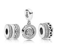 Authentische 925 Sterling Silber Europäische Perlen Charms Original Box für Pandora Charms Schmuckherstellung Zubehör