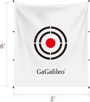 Golf Target 5x6ft Golf Training Aids Aids Practice Backstop Target Backyard Driving PVC Black Circle Targets