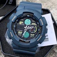 Vendita calda Orologio da uomo Sport da esterno Iced Out Guarda Dual Display LED Digital Watch Time World Time Impermeabile e antiurto
