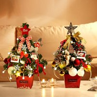 kleine Weihnachtsschmuck Tischdekoration Baum 50cm bunte Lichter senden, leuchtenden Baum, Mini Weihnachtsbaum Geschenk