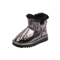 Fashion Winter 2020 baby boots rivet baby snow boots fur tod...
