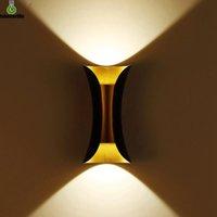 6W 10W LED Wandleuchte IP65 im Freien wasserdichten Garten-Wandleuchte Innen Korridor Schlafzimmer Wohnzimmer-Dekoration-Beleuchtung Aluminium