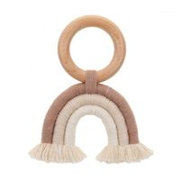 Pacifiers # Baby Testher Крючком Деревянное кольцо Toing Toy Toy Natural Hotte Gender Nealure1