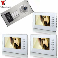 Yobang Security 3 Units Apartment Flat Color Video Door Phon...