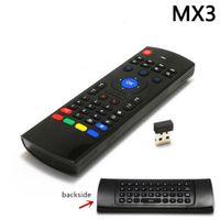 MX3 에어 마우스 x8 유니버셜 스마트 원격 제어 2.4G RF 무선 키보드 안드로이드 TV 박스 H96 MAX X96 MINI
