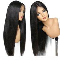 360 pizzo parrucca frontale capelli brasiliani capelli vergini dritti 360 parrucche full pizzo frontale parrucche di capelli umani pre-pizzicata con i capelli del bambino