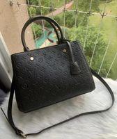 Lussurys Designer Borse Borse Borse Montaigne BB Genuine Leather Women Messenger Handbag Borsa Borsa Tote Brand Shoulder Crossbody