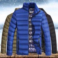 Sólido Hombres Invierno Parkas 2020 Nueva caliente impermeable casual gruesa chaqueta para hombre de gran tamaño Slim Fit Male Male capas de las chaquetas Ropa