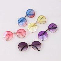 여름 키즈 선글라스 빈티지 스타일 소녀 라운드 선글라스 소년 해변 보호 여자 UV 400 Adumbral 태양 안경 B3657