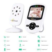 Bebek Uyku Monitör Gece Görüş 2 Yönlü Konuşma Ninni Sıcaklık Monitör 2.4 inç LCD Dijital Kablosuz Dadı Radyo Bakıcısı