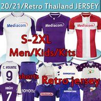 2020 2021 Fiorentina Retro Soccer Jersey Ribery Callejon Vlahovic 1992 93 95 96 98 99 2000 Batistuta Men Kit Kit Kit Maillot de Camicia da calcio