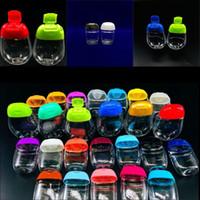 Bouteilles de désinfectant à main vides 30 ml ellipse plastique Clear Séparez la bouteille de lotion portable de voyage extérieure 0 59RL G2