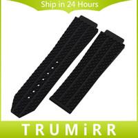 Vente en gros - Bande de montre en caoutchouc de silicone convexe 26mm x 19mm pour hub Bande de montre HUM Bande de rechange Bracelet poignet noir Bleu Blue Brown White1