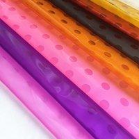 Sıcak Yeni Nokta Desen Yarım Şeffaf Plastik Çiçek Ambalaj Kağıt Su Geçirmez Buket Hediye Sarma Malzemesi 20 Sheets / Pack1