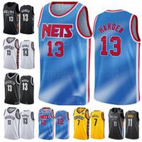 Basketball 13 James Harden Jerseys 11 Kyrie Irving 7 Kevin Durant 1 Bruce Brown 8 Jeff Green City Verdient Klassische Ausgabe Schwarzblau