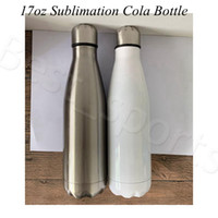 17oz Sublimation Cola Bottle blank white 500ml Stainless Ste...