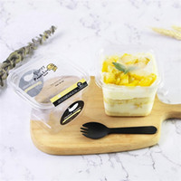 مربع العديد من طبقات الطبقات كعكة مربع المتاح بودنغ موس بينتو صناديق التعبئة البلاستيكية الشفافة شحن مجاني 0 42ly j2