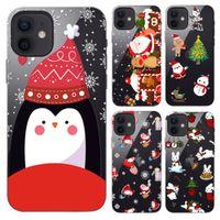 Guangzhou Juropin 2020 Durumda iPhone 12 için Sevimli Desenler Merry Christmas Cep Telefonu Kılıfı Için iPhone 12 Pro Max 11 Pro