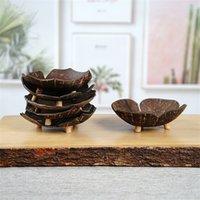Creative Coconut Shell Jabón Estante de jabón en forma de mariposa con forma de coco Jabón de dibujos animados Jabón Caja de jabón del sudeste Asiático Asiático Conconet Concha jabones plato ZZC4728