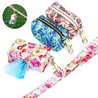 휴대용 개 훈련 스낵 가방 패션 인쇄 된 야외 개 여행 스낵 휘파람 키 쓰레기 가방 애완 동물 용품