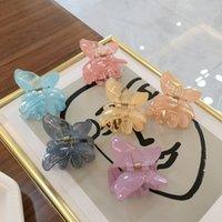 Coreano farfalla Artiglio clip leggiadramente eccellente geometriche acrilico forcelle delle donne delle ragazze di granchio pinza Accessori per capelli Barrettes
