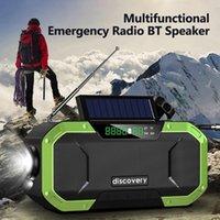 BT FM / AM Radyo Taşınabilir IPX6 Su Geçirmez El Krank Güneş İşlevli Acil Bluetooth Hoparlör Desteği SOS