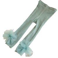 2021 NUOVO 1-4Y Girls Leggings Leggings Bows Abbigliamento per bambini Cotton Pantaloni per bambini Principessa Pantaloni Skinny Bambini Abbigliamento per bambini Abbigliamento infantile B3833