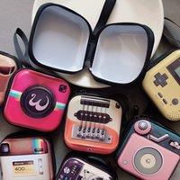 Neue kreative tinplate Geldbörse Mini-Schlüsselkasten retro Aufzeichnungsband Gepäck Muster Kopfhörer Münze Aufbewahrungstasche PPF2405