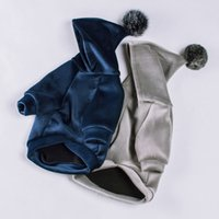 Fashion Dog Clothes Winter Pet Dog Hoodie Soft Pets Dogs Clothing For Small Medium Dogs Coat Puppy French Bulldog Pet Costume T200101