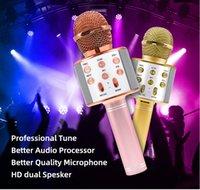 Fabbrica han his858 wireless USB microfono professionale condensatore karaoke mic Bluetooth stand Radio Mikrofon studio registrazione studio ws858