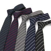 Berufsbindung für den Mann 6 cm dünne Baumwolle Krawatte Business formale Klage-Hals-Krawatten-Streifen karierten Anwalt