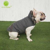 Kalınlaşmak Yastıklı Köpek Giysileri Kış Pet Ceket Pamuk Sıcak Yelek Küçük Köpekler Için Yavru Ceket Fransız Bulldog Giyim Kedi 10e T200710