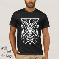 Fashion Cool Men T shirt Women Funny tshirt SIGIL OF LUCIFER AND BAPHOMET Customized Printed T-Shirt sport Hooded Sweatshirt Hoodie