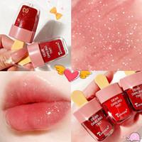 Глянцевые для губ милые мороженое блестящие водонепроницаемая длительная сексуальная жидкая помада красные губы пигменты макияжа масло не исчезают