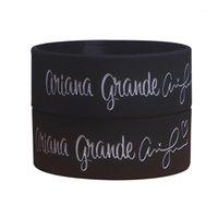 Charme pulseiras 1 pcs ariana largo preto grandioso pulseira de silicone para música concert1