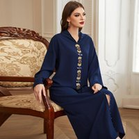 Roupas étnicas Plus Size Abaya Dubai Turquia Hijab Vestido Muçulmano Islã Vestidos Africanos para Mulheres Robe Musulman De Mode Djellaba Femme
