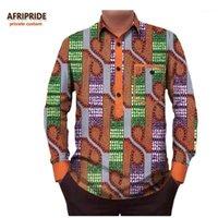 Roupas étnicas 2021 Outono Camisa Africana para Homens AfriRide Privado Personalizado Personalizado Longa Manga Comercial Collar Casual Homens 100% Pure Cotaga731