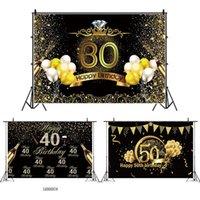 عيد ميلاد خلفية ديكور سعيد 30th 40th 50th حزب عيد ديكور الكبار 30 40 سنة إمدادات حزب الذكرى