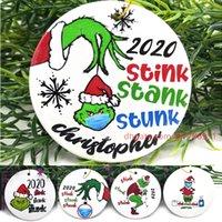 2020 apestaba hedor apestaba máscara del partido de Navidad Decoración de Santa Claus con la cara colgando colgante de Navidad del regalo del árbol ornamento personalizado K932