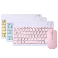 Keyboard Mouse Combos Wireless Set Portable Bluetooth 10 Inch Rechargeable Dual Mode 78 Keys Ultra Thin For PC Laptop Game Work