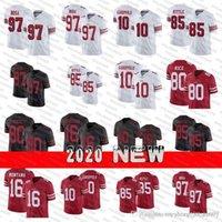 남성 여성 49ers.청소년 10 Jimmy Garoppolo Jersey 85 George Kittle 97 Nick Bosa Jerry Rice Joe Montana 44 Kyle Juszczyk Football Jerseys