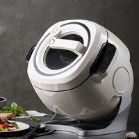 Frigideira Elétrica 6L Completo Automático Cooker Cooking Machine Multi Non-Stick Pan Stir-Fry Touch Painel Robot