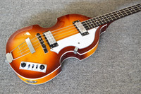Neue 4 Saiten Hofner Viola Bass Sunburst Viola Electric Bass Gitarre China Violine Bass