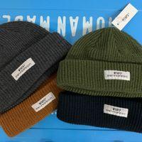 WTAPS Goreros cortos Sombreros de invierno para mujeres Hombres Autumn Docker Docker Gorros sin bordes Diseñador al por mayor Accesorios para damas Skullcap Moda Skullies