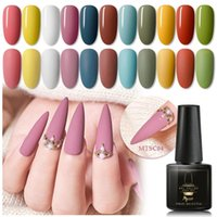 Mtssii Color Gel opaco Nail Polish Set effetto opaco Necessità Top Coat Soak Off Gel Manicure per unghie Nail Art lacca