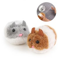 Игрушки кошка игрушка искусственная смешная маленькая толстая мышь, вытягивая хвостовое кольцо вибрирует бегать вперед встряхнуть интерактивные домашние животные продукты1