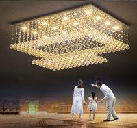 현대 간단한 직사각형 크리스탈 천장 창조적 인 침실 천장 조명 빌라 거실 식당의 샹들리에 조명 램프